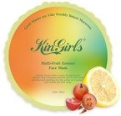 Kin Girls Macarons Multi-Fruit Face Mask Rozświetlająca maska w płachcie 18ml