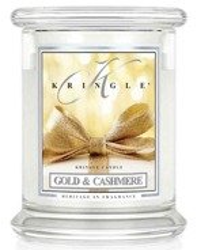 Kringle Candle Classic Gold Cashmere Słoik świeca średnia 411g