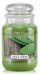 Kringle Country świeca zapachowa słoik duży Sage&Cedar 680g