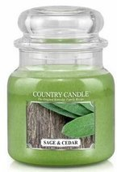 Kringle Country świeca zapachowa słoik średni Sage&Cedar 453,6g