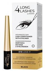 Long4Lashes Odżywka do rzęs+eyeliner Black