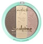 Lovely Sculpting Powder 3 Color Press Powder Paleta do konturowania 1 15g
