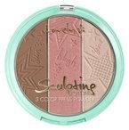Lovely Sculpting Powder 3 Color Press Powder Paleta do konturowania 2 15g
