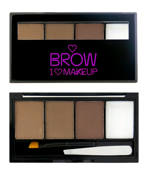 Makeup Revolution I heart  Makeup - Brow Kit I woke up this groomed - Zestaw do brwi