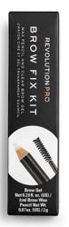 Makeup Revolution PRO Brow Fix Kit Wax Pencil&Clear Brow Gel Zestaw do stylizacji brwi