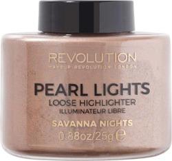 Makeup Revolution Pearl Lights Loose Highlighter Puder rozświetalający 25g SAVANNA NIGHTS