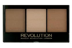 Makeup Revolution Ultra Brightening Light/Medium- Zestaw do konturowania C04