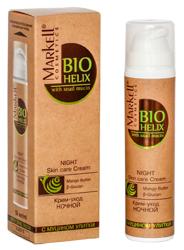 Markell Bio Helix Krem odżywczy z ekstraktem ze śluzu ślimaka na noc 50ml