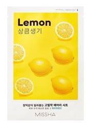 Missha AIRY Fit Sheet Mask Lemon Rozjaśniająca maska w płachcie Cytryna 19g