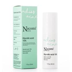 Nacomi Next Level Adios Acne Glycolic Acid 10% Serum do twarzy z kwasem glikolowym 10% 30ml
