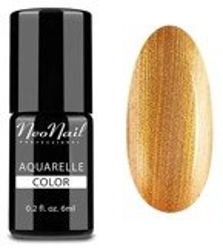 NeoNail Aquarelle Lakier 5771-1 GOLD Aquarelle Lakier hybrydowy do paznokci o akwarelowym wykończeniu