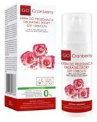 Nova Kosmetyki GoCranberry Krem do pielęgnacji delikatnej skóry szyi i dekoltu 50ml