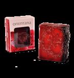 Orientana Róża Japońska i Liczi - Mydło do ciała z gąbką złuszczającą 100 g