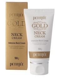 PETITFEE Gold Neck Cream Przeciwzmarszczkowy krem na szyję 50g