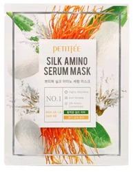 PETITFEE Silk Amino Serum Mask odżywcza maseczka z jedwabiem 25g