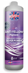 Ronney ANTI-YELLOW shampoo SILVER POWER Szampon do włosów eliminujący żółte tony 1000ml