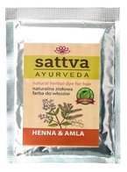 Sattva Naturalna ziołowa henna do włosów Henna&Amla 10g