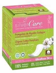 Silver Care Ultracienkie wkładki higieniczne o anatomicznym kształcie – 100% organicznej bawełny 24szt