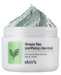 Skin79 Green Tea Purifying Clay Mask Peelingująca maska oczyszczająca do twarzy 100ml