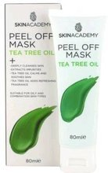 SkinAcademy Peel Off Mash TEA TREE OIL Oczyszczająca maska do twarzy z olejkiem z drzewa herbacianego 80ml