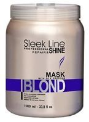 Stapiz Sleek Line Blond Hair Mask Maska regenerująca z jedwabiem i wyciągiem z pestek słonecznika 1000 ml
