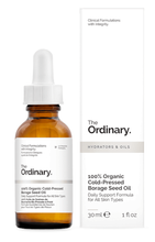 The Ordinary 100% Organic Cold-Pressed Borage Seed Oil Olej z nasion ogórecznika 30ml