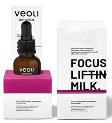 VEOLI LINIA PROFESJONALNA FOCUS LIFTING MILK natychmiastowo liftingujące, anti-aging serum emulsyjne z roślinnym zamiennikiem retinolu i Fision Instant Lift 30ml