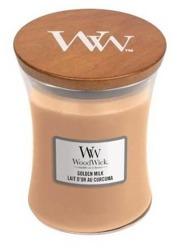 WoodWick świeca mała Golden Milk 85g