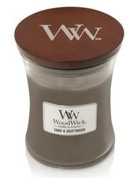WoodWick świeca średnia Sand&Driftwood 275g