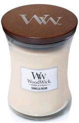 WoodWick świeca średnia Vanilla Bean 275g