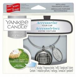 Yankee Candle Charming Scents Odświeżacz samochodowy zawieszka Clean Cotton