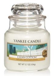 Yankee Candle Clean cotton Świeca zapachowa słoik mały 104g