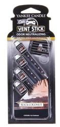 Yankee Candle Vent stick - Odświeżacz samochodowy - patyczki Black Coconut 4szt