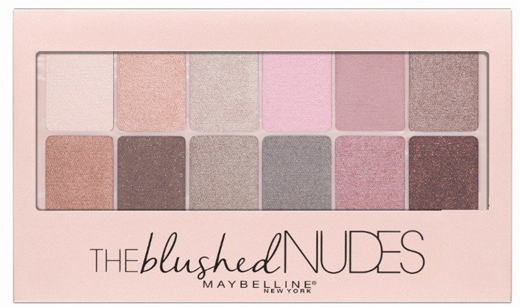 Maybelline The Blushed Nudes Palette 12 Nude Shades Collection