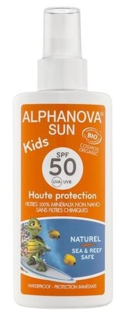 ALPHANOVA SUN Spray przeciwsłoneczny SPF50 KIDS 125g
