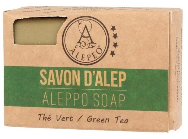 Alepeo Aleppo Soap Green Tea Naturalne mydło Aleppo Zielona herbata 100g