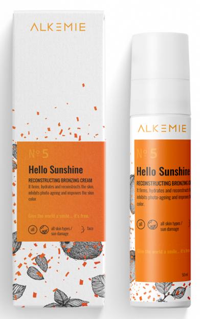 Alkemie Hello Sunshine Rekonstruujący krem brązujący 50ml