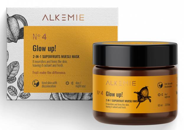 Alkmie Glow up! 2w1 Peeling-maska z superowocami 60ml