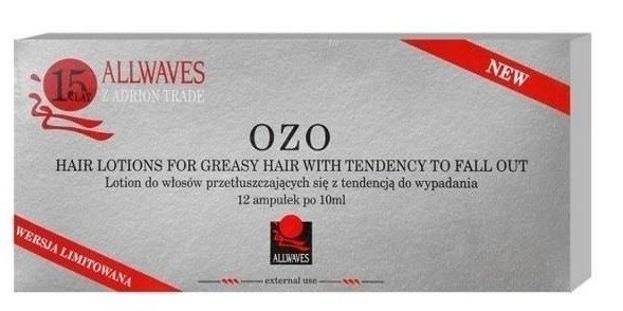 Allwaves OZO Ampułki do włosów przetłuszczających 12x10ml