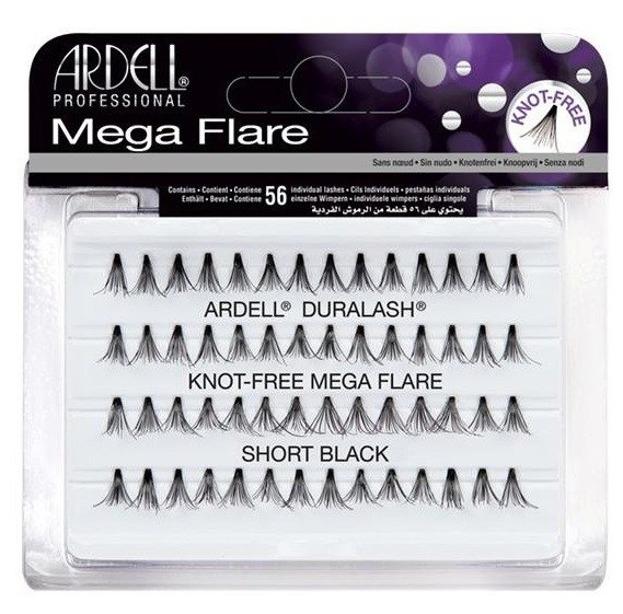 Ardell Mega Flare Knot Free Short Black Kępki rzęs Czarne 56szt.