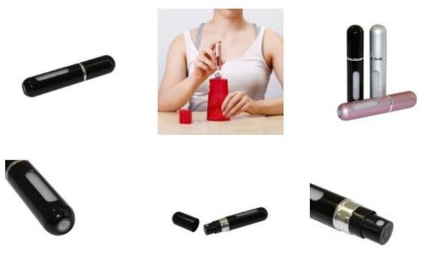 Atomizer podróżny perfum  Black, 5 ml