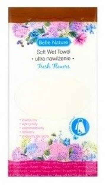 Belle Nature Mokry ręcznik z mikrofibry Fresh flowers 1szt