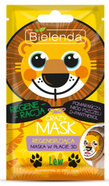 Bielenda Crazy Mask Regenerująca maska w płachcie LEW