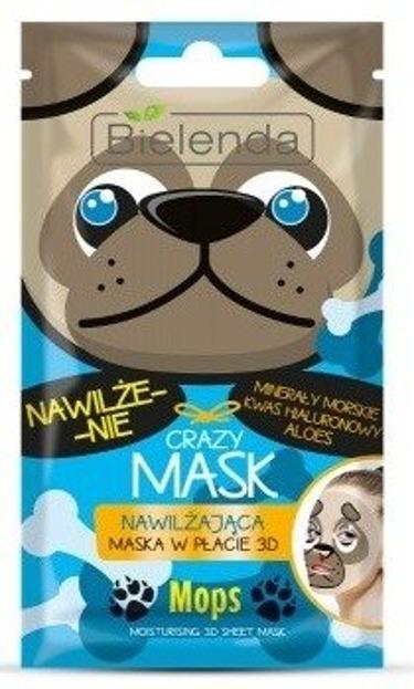 Bielenda Crazy Maska w płacie 3D nawilżająca MOPS