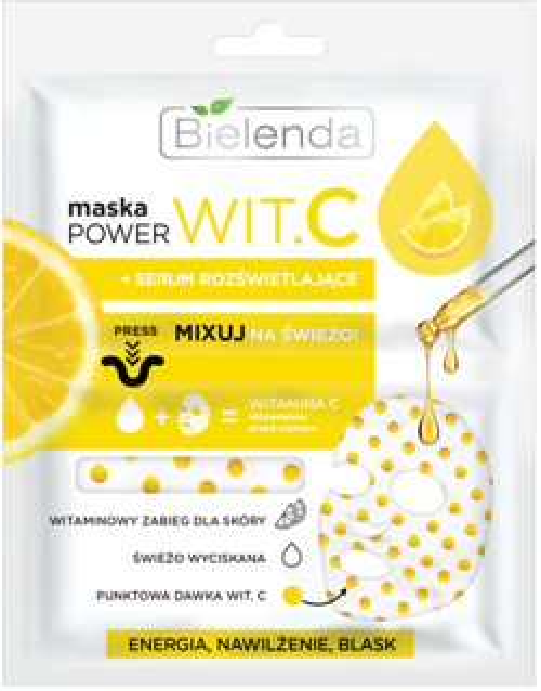 Bielenda POWER Wit.C Maska + Serum rozświetlające 22ml