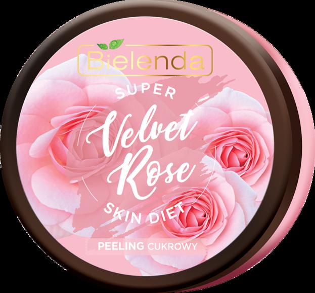 Bielenda Super Skin Diet Velvet Rose Regenerujący peeling cukrowy Róża 350g