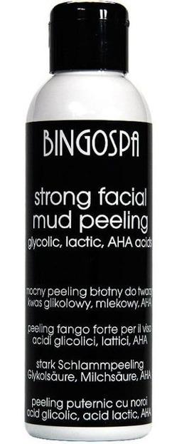 BingoSpa Mocny peeling błotny do twarzy - kwas glikolowy i mlekowy, kwasy owocowe 100g