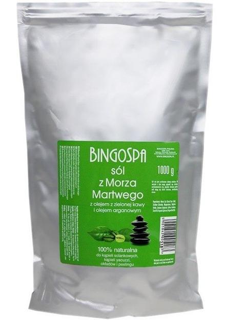 BingoSpa Sól z Morza Martwego z olejem z zielonej kawy i olejem arganowym 1000g