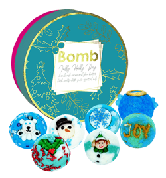 Bomb Cosmetics Zestaw Upominkowy Jolly Holly Day