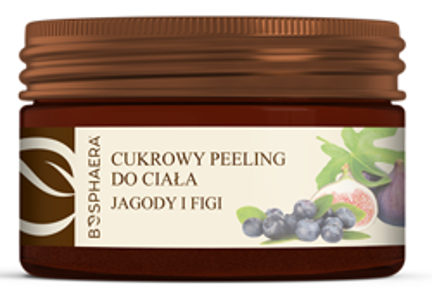 Bosphaera Cukrowy peeling do ciała Jagody i figi 200g